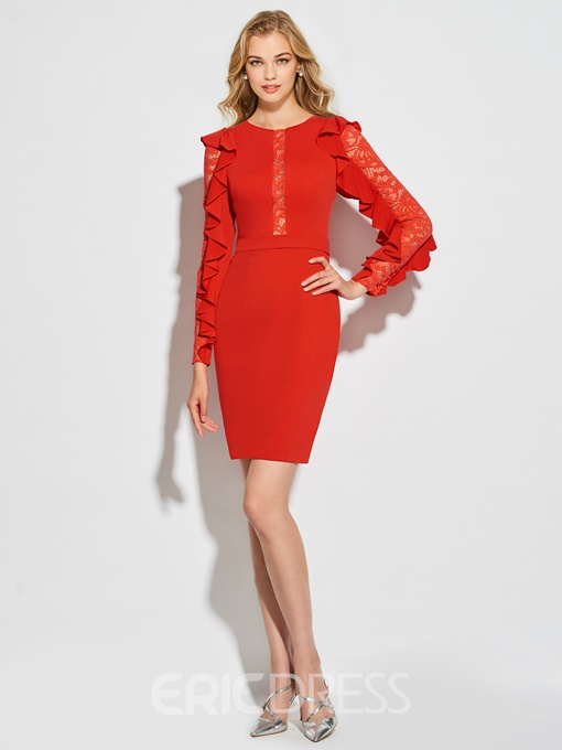 Ericdress Sheath Long Sleeve Bodycon Homecoming Dress