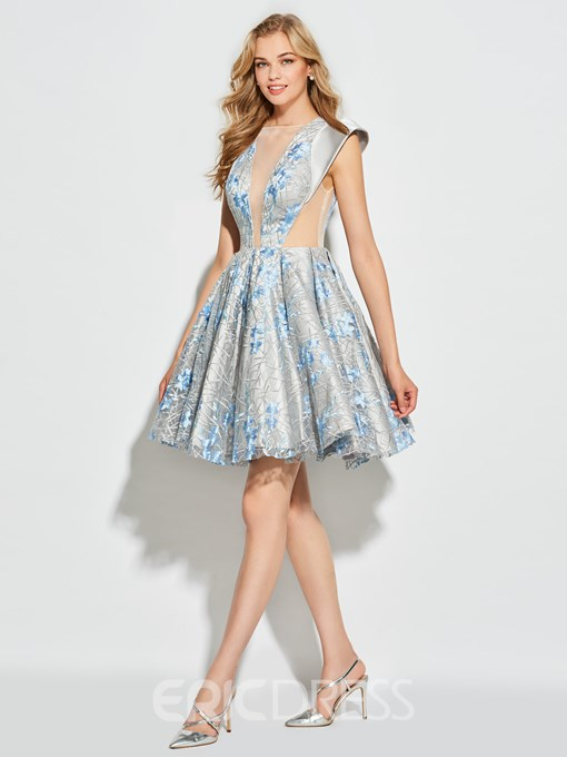 Ericdress Short Backless Lace Cocktail Ball Gown