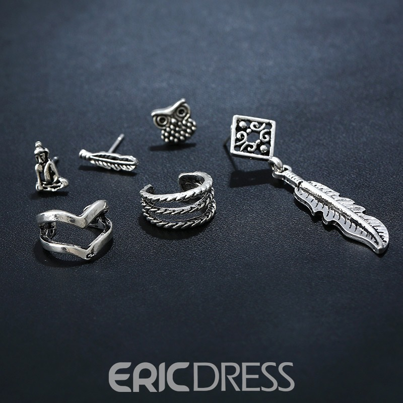 Ericdress Vintage Concise Six-Piece Fashion Earring for Women