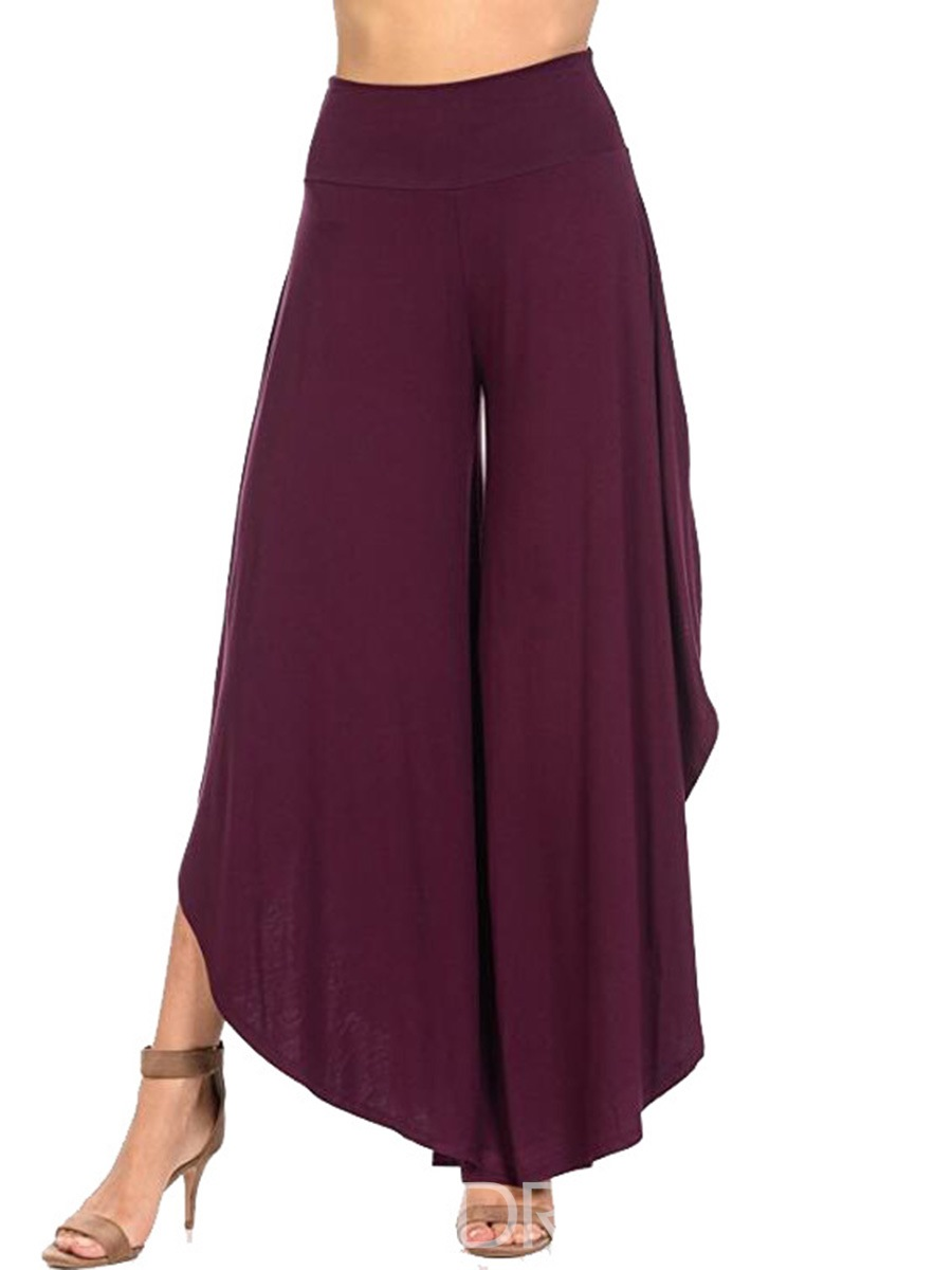 Ericdress Elastics Pleated Wide Legs Pants