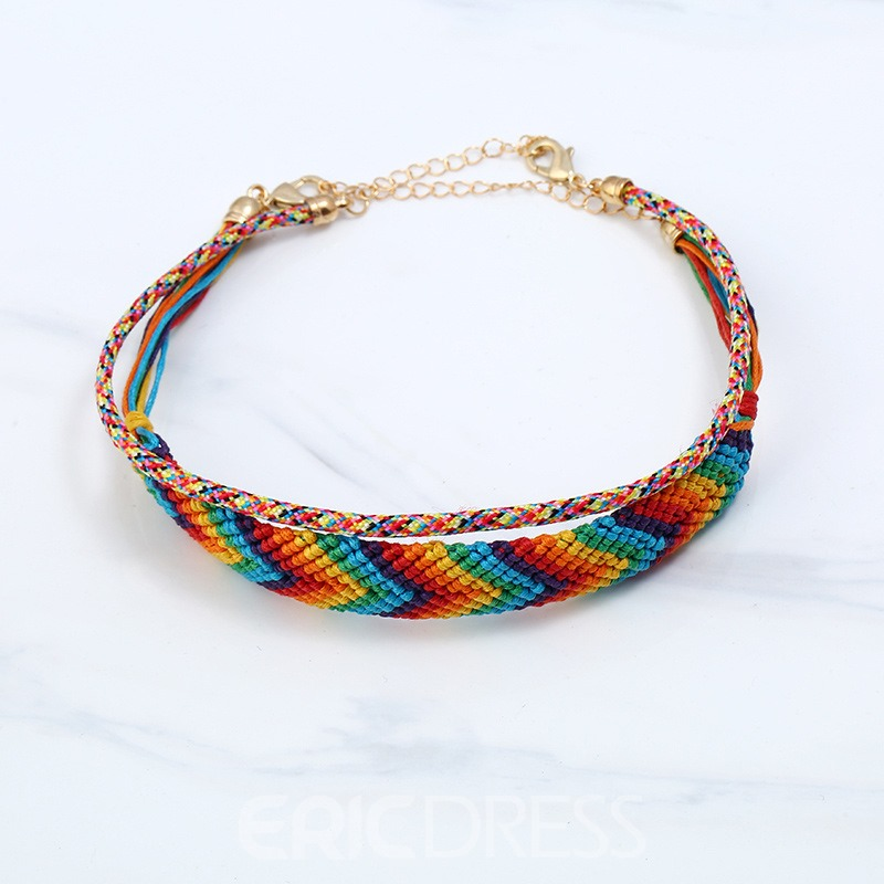 Ericdress Knitting Contrast Color Women's Necklace