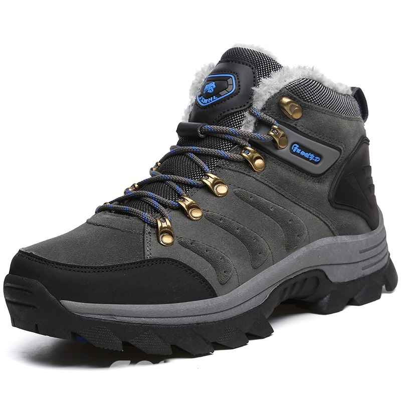 Ericdress Color Block Outdoors Lace-Up Men's Hiking Shoes
