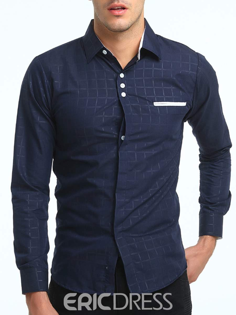 Ericdress Vogue Long Sleeve Plaid Men's Shirt