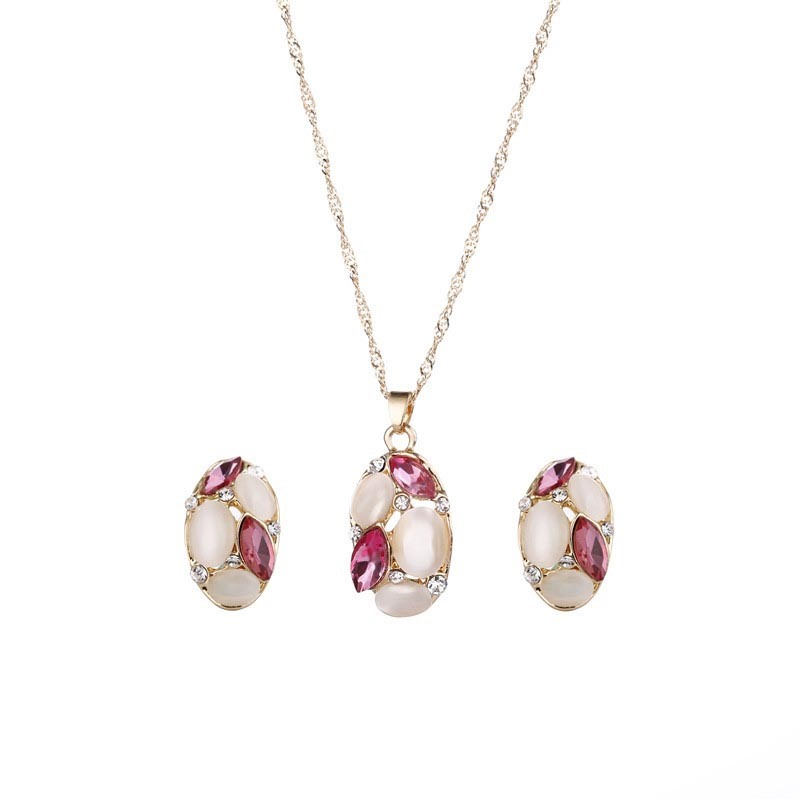 Ericdress Cat's Eye Two-Piece Jewelry Set for Women