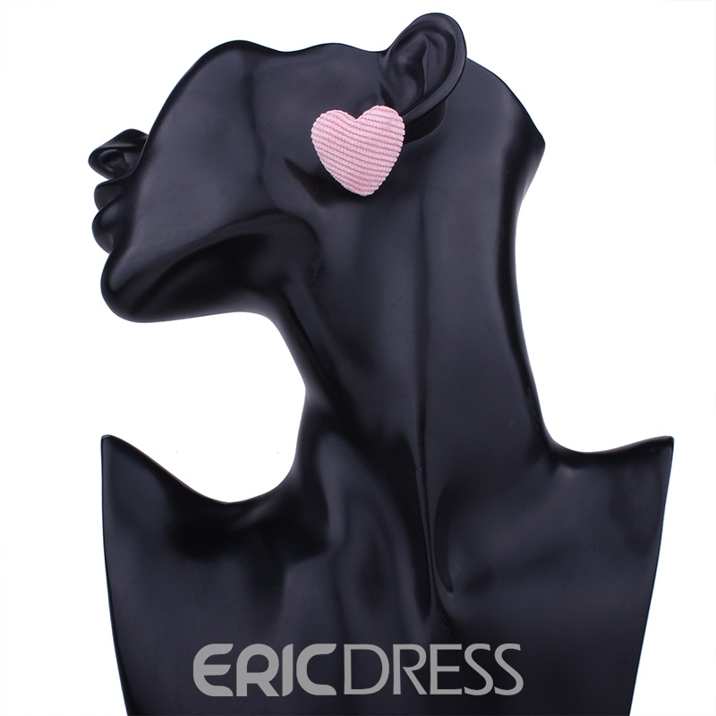 Ericdress Romantic Heart Solid Color Women's Stud