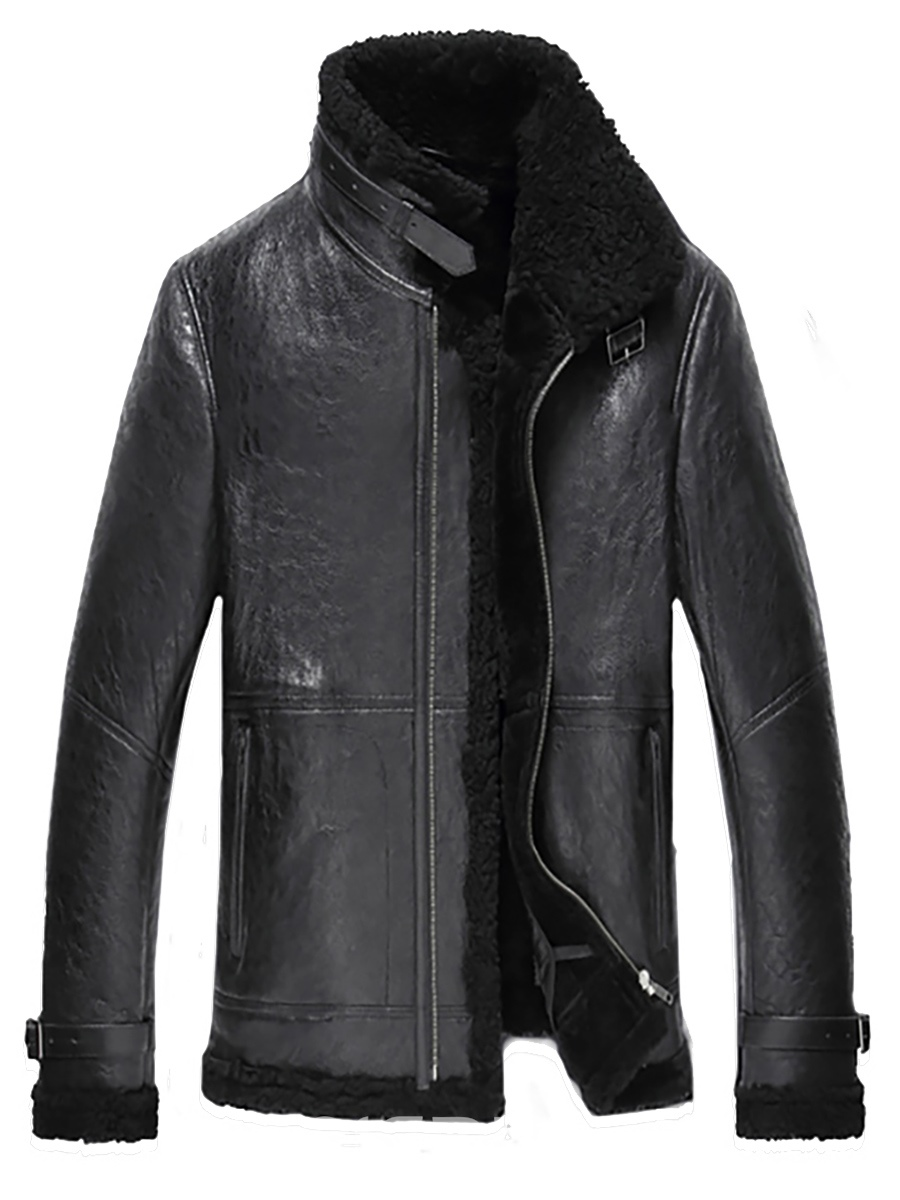 Ericdress Faux Shrearling Zip Vogue Warm Men's Jacket