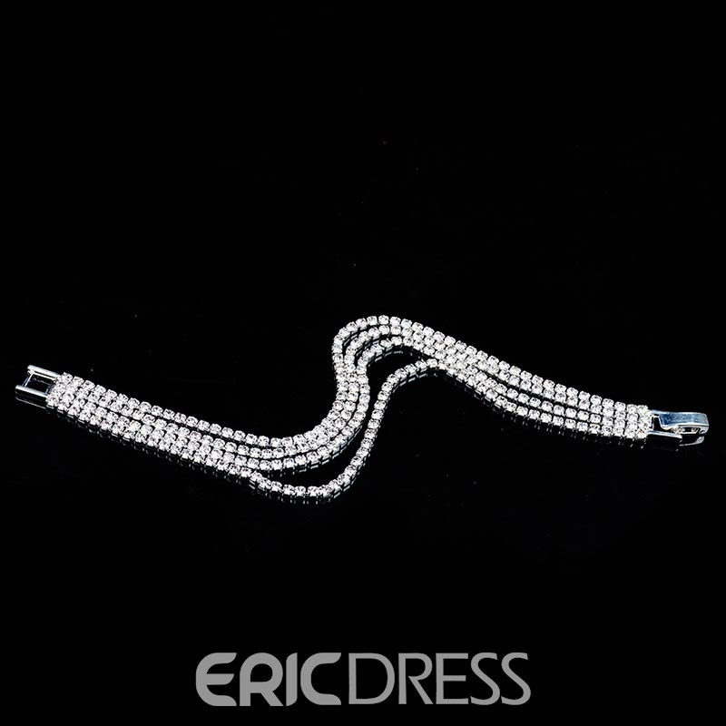 Ericdress Stunning Fully Rhinestone Fashion Bracelet