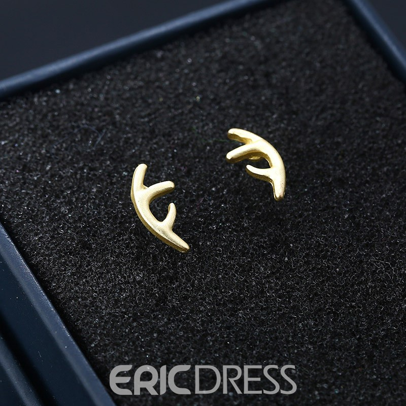 Ericdress Alloy Antlers-Shaped Stud Earring