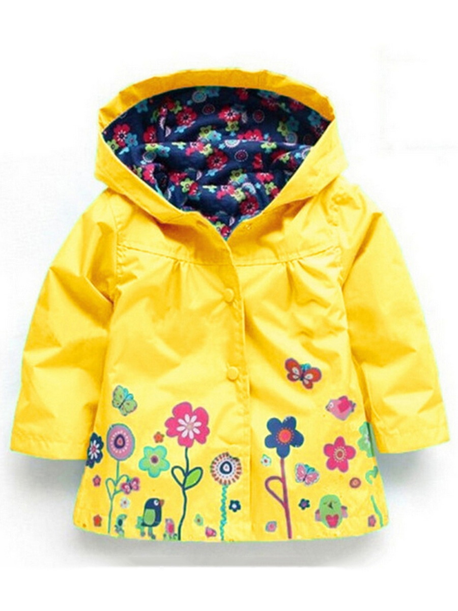 Ericdress Waterproof Hooded Girl's Raincoat Outerwear
