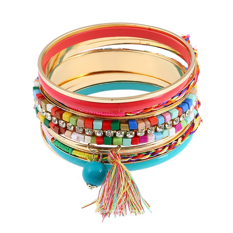 Ericdress Personal Candy Color Acrylic Tassel Bracelet