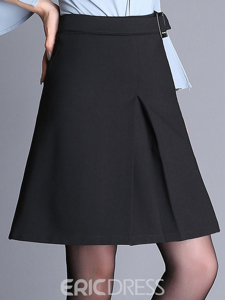 Ericdress High-Waist Lace-Up Autumn Usual Skirts