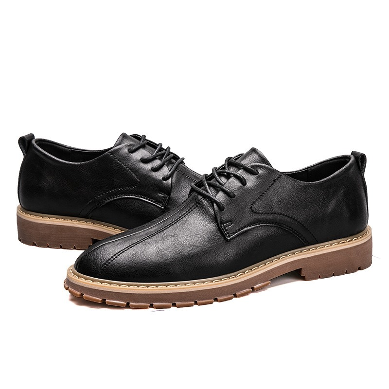 Ericdress British Plain Lace-Up Men's Oxfords