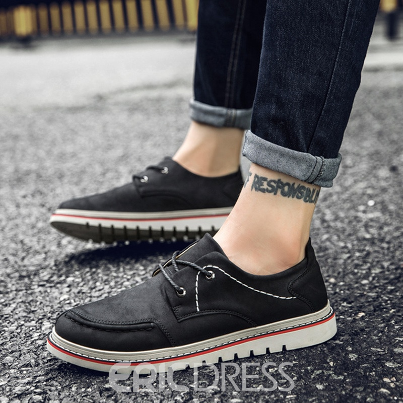 Ericdress Comfy British Plain Men's Casual Shoes