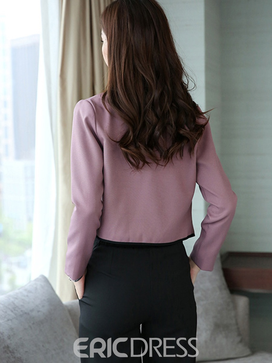 Ericdress Single-Breasted Blazer and Ankle Length Pants Women's Suit