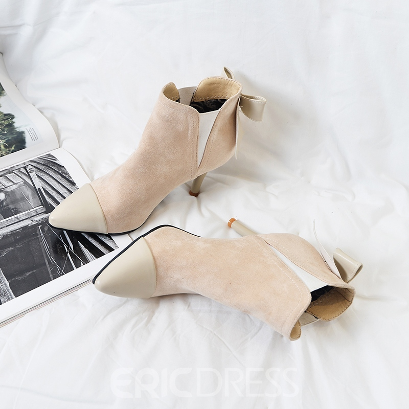 Ericdress All Match Bowknot Stiletto Heel Boots