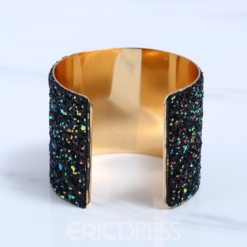 Ericdress Shining Paillette Open Alloy Bracelet for Women