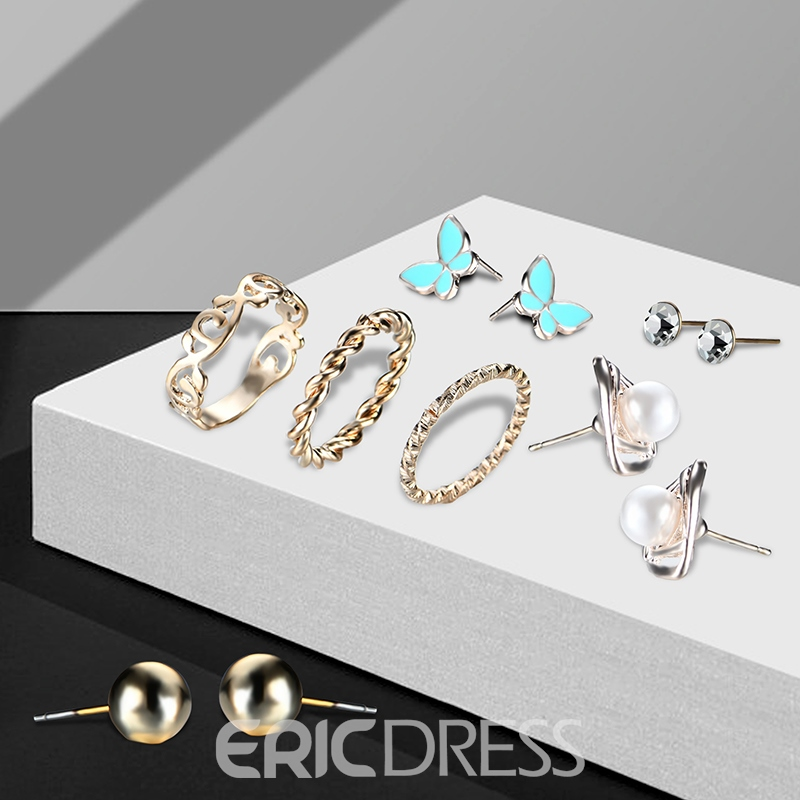 Ericdress Butterfly Alloy All Match Jewelry Set for Women