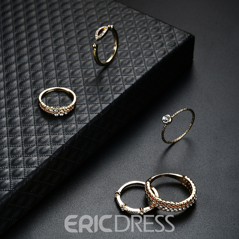 Ericdress Gold Plating Diamante Jewelry Set for Women