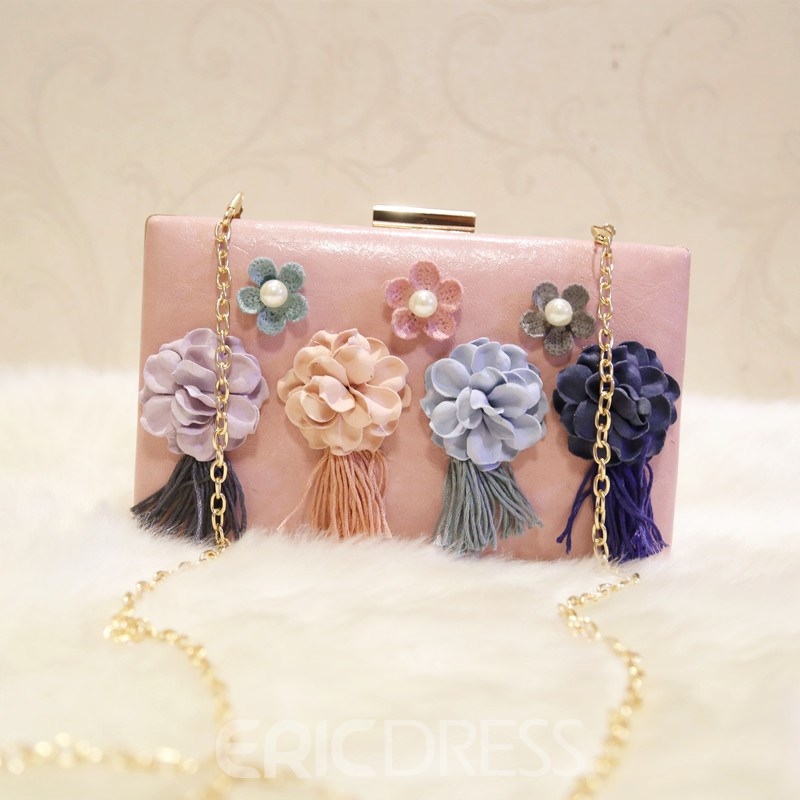 Ericdress Floral Beads Rhinestone Decoration Clutch