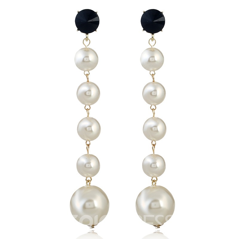 Ericdress Graceful Pearl Tassel Women's Drop Earring