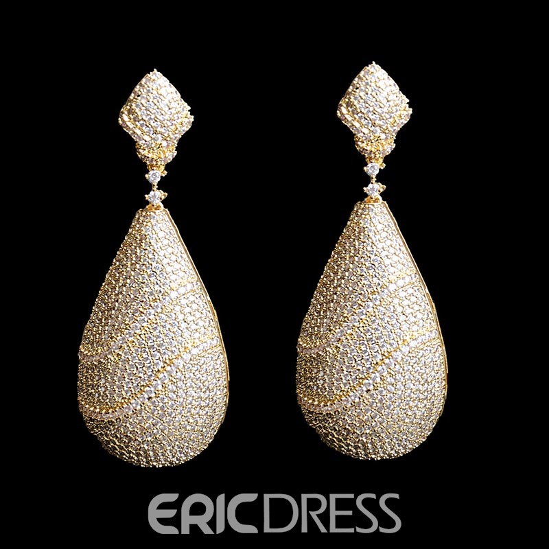 EricdressFully Rhinestone Zircon Earring