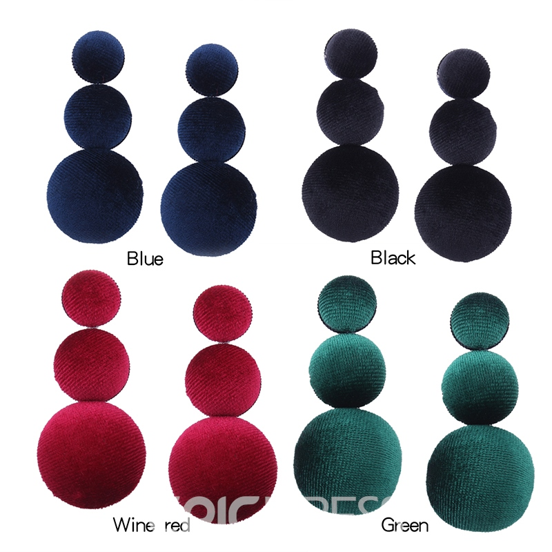 Ericdress Chic Ball Pure Color Women's Drop Earring