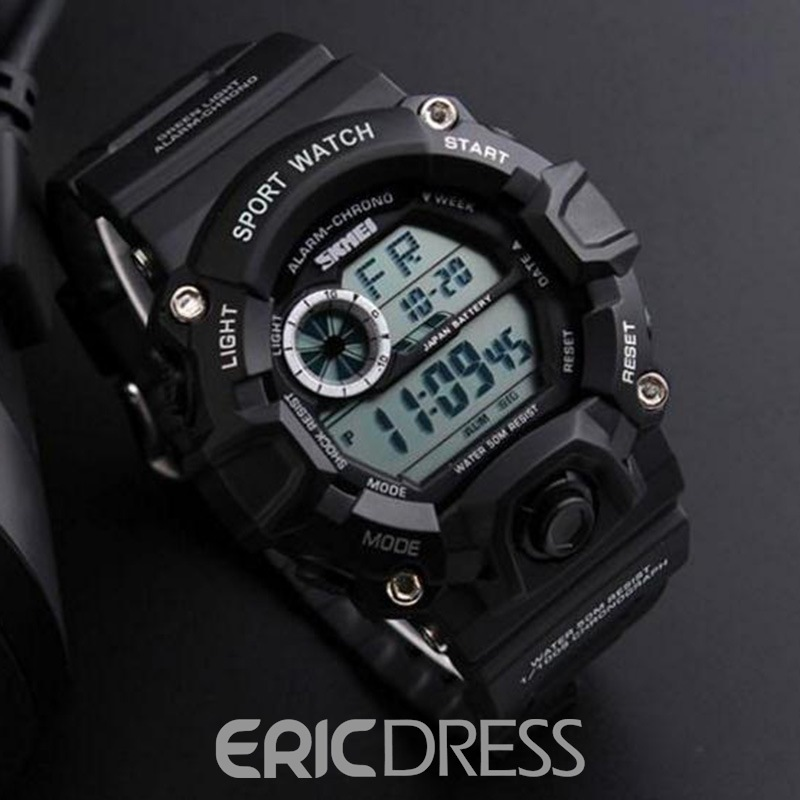 Ericdress Multifunctional Waterproof Resin Men's Watch