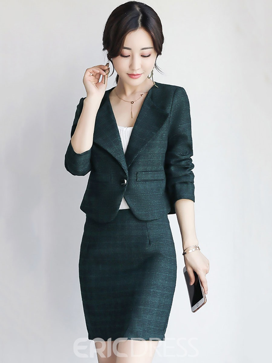 Ericdress Lapel One Button Bodycon Leisure Suits