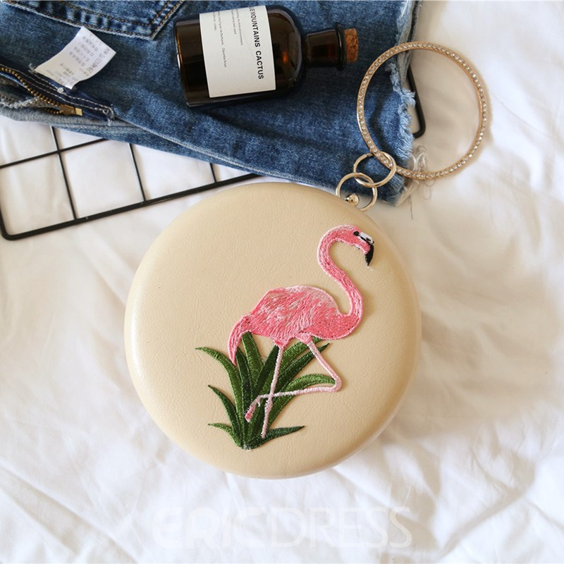 Ericdress Circular Handle Embroidery Clutch