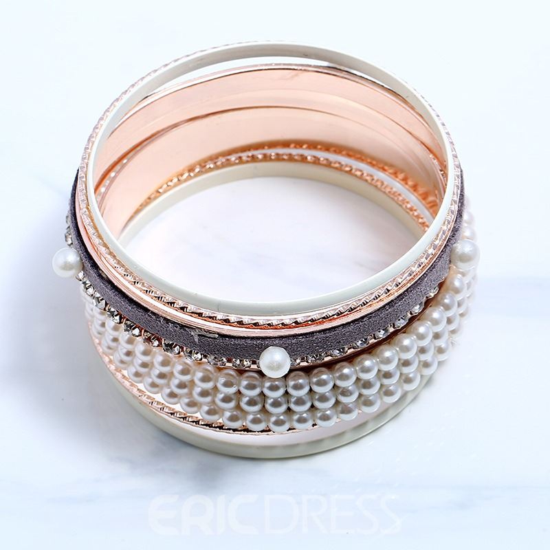 Ericdress Graceful Diamante Pearl Alloy Fashion Bracelet