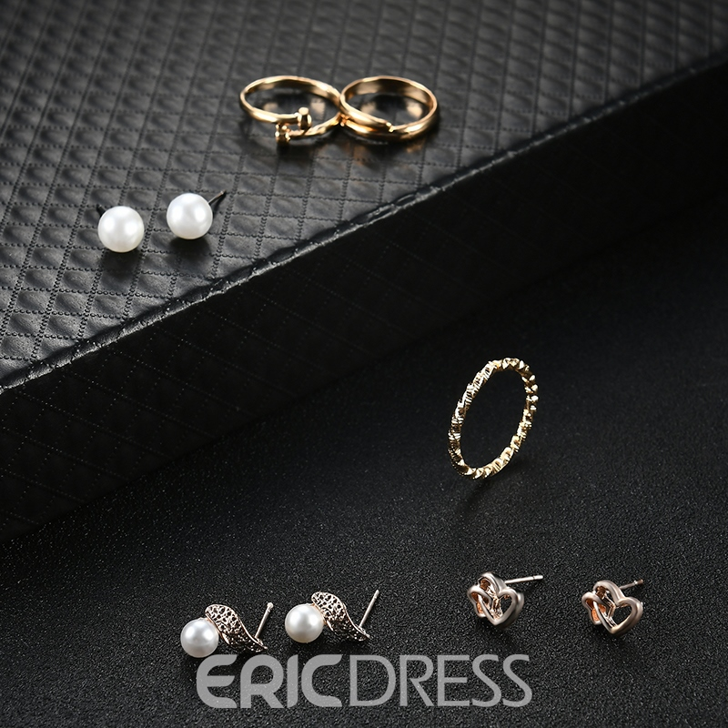 Ericdress Gold Plating Imitation Pearl Rhinestone Jewelry Set