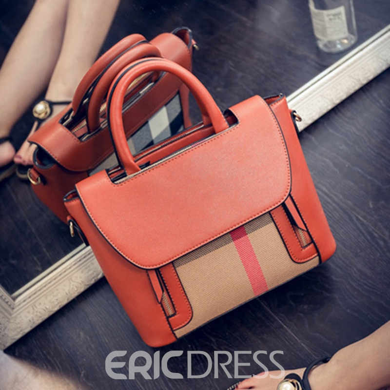 Ericdress Classic Plaid Zipper Women Handbag