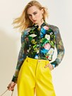 Ericdresss Floral Color Block Short Jacket