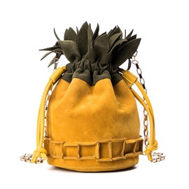 Ericdress Distinctive Pineapple Shape Bucket Crossbody Bag