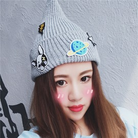 Ericdress New Style Knitting Wool Cartoon Pattern Women's Hat