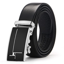 EricdressConcise Business Automatic Buckle Men's Belt
