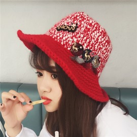 Ericdress Cartoon David's Deer Warm Cut Hat for Women
