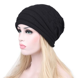 Ericdress European Syle Knitting Wool Pure Color Warm Hat for Women