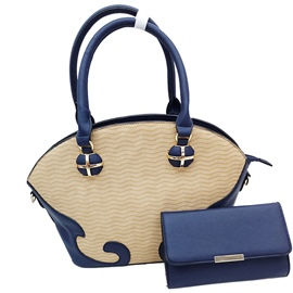 Ericdress Fashion Color Block Embossing Handbag
