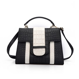 Ericdress Croco-Embossed Color Block Women Handbag