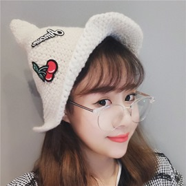 Ericdress Cute Cherry Printed Warm Hat for Women