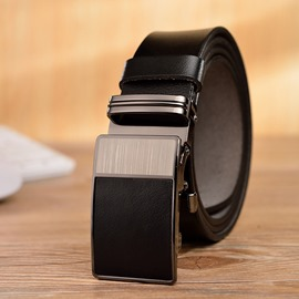 Ericdress High End Smooth Buckle Pure Cowhide Men's Belt