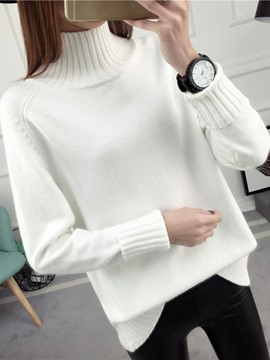 Ericdress Turtleneck Slim Plain Knitwear