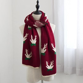 Ericdress Christmas Deer Printed Scarf for Women