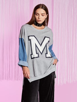 Ericdress Color Block Double-Layer Pullover Hoodie
