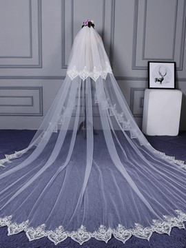 Ericdress Appliques Edge Long Bridal Veil