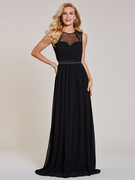 Ericdress A Line Scoop Neck Backless Evening Dress
