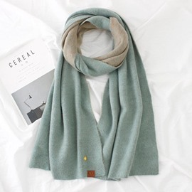 Ericdress Biclolor Knitting Wool All Match Long Women's Scarf