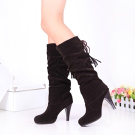 Ericdress Fashion Lace-Up Back Knee High Boots