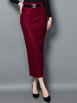 Ericdress High-Waist Bodycon Column Skirts
